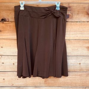 Apt. 9 brown flowy skirt with design waistband